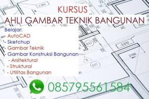 Kursus ahli gambar teknik bangunan